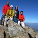 Les 4 hikrs au sommet du Monte Glacier (3182m)