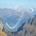 Die Patrouille Suisse in Harmonie mit den Alpen.