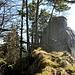 Barenflue P983. Hier beginnt der neuerdings seilgesicherte Aufstieg zum Gipfelkreuz.