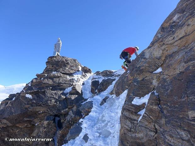 Heikle Querung zur Gipfelmadonna