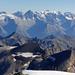 Im Vordergrund die Barrhörner und im Hintergrund das Bietschhorn
