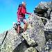 gross die Felsbrocken - und die Abstiegsmöglichkeiten ...