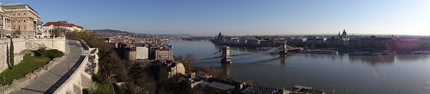 Panorama vom Burgberg in Budapest
