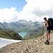Passo Nefelgiù. Im Hintergrund sieht man den Lago Vannino und links den Passo Busin, über welchen wir weitergewandert sind.