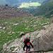Die kurze Chraxelpassage am Aufstieg zum Passo della Rossa