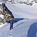 Hoch über den SW-Grat. Eine Skibefahrung vom Gipfel wäre sogar möglich gewesen!