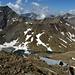 il bivacco e i due laghetti posti pochi metri sotto il passo Dosegù