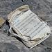 Das ältere Gipfelbuch, das neue sieht nicht so eindrücklich aus