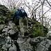 Sperone roccioso del Monte San Bernardo.