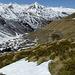 Frühlingsambiance oberhalb vom Chalet d'en Bas: die Mont Blanc Gruppe verschwindet langsam wieder hinter dem Mourin