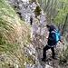 Secondo passaggio attrezzato in discesa dal Monte Minisfreddo.
