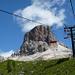 Ein ziemlich imposanter Anblick – Gipfel des Averau von Sesselbahn aus gesehen