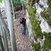 In discesa una decina di calate, di albero in albero, con la corda da 20m...., su terreno brutto... La foto non rende l'idea...