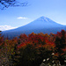 Der Blick auf den Fuji San aus dem Tal.