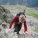 Am Gipfelaufbau kamen dann auch die Hände kurz zum Einsatz