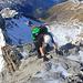 Röbi im Aufstieg auf dem Grat etwa 50m unterhalb des Gipfels.