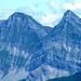 in lontananza due belle montagne il Dent de Brenleire a sx e il Dent de Follieran a dx