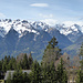 Oberhalb der Muttersberg Alpe - Blick hinüber zum Brandner Tal mit der Schesaplana.