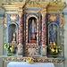 Il seicentesco altare policromo della cappella de la Madonna della Neve a Rabernardo.