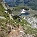 Lago senza nome sotto la cresta lato elvetico