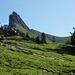 Blick zurück zum gestrigen Ziel Chaiserstuel 2400m.