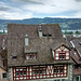 Aussicht von Schloss Rapperswil auf Rapperswil und den Zürichsee