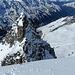 Auf dem weniger steilen Gipfelschneefeld