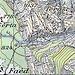 SwissTopo 1968: seit dem Murgang erfolgt der Zugang südlich von Serta. Der übrige Wegverlauf stimmt zu 95%. Barbacane: P1037