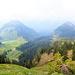 Zwei Wandergipfel über Schuttannen ... am Foto nicht zu erkennen, links im Nebel Dornbirn