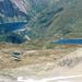 Basodino - Tiefblick ins Val Formazza - von links: Lago Nero, Lago di Morasco (Stausee), Lago Castel