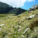 Pian Tasin - Links der Senke gut sichtbar der Zwischengrat des Passo dei Rampi