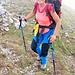 Daniela raggiunge la cresta.
