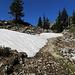 ab 1500 m gibt es noch Schneefelder