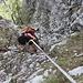 ...Ridiscendiamo il camino sul versante francese per congiungerci alla via degli Alpini