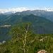 Face Est du Mont Rose vue du Mottarone