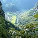 Aufstieg nach Cogliata - Tiefblick nach Cavergno und Bignasco ins Maggiatal