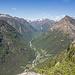 Tolle Aussicht von der Alpe Viciüm ins Valle Verzasca