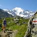 Auf dem Weg zum Col des Avouillons, Petit Combin im Hintergrund