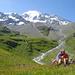Eine kleine Pause beim Aufstieg zum Col des Avouillons