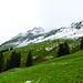 Ein Zeichen?   Der Gipfel der Üntschenspitze steckt nicht mehr in den Wolken.