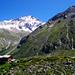 Schon von Petit-Mountet aus ist die Aussicht auf das Weisshorn herrlich