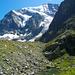 Noch ein kleiner See mit dem Nordwand des Grand Cornier. Hier beginnt der kurze steile Abstieg zum Gletscher