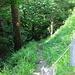 Ausstieg auf die Schotterstrasse, auch sehr viel steiler