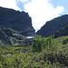 Alpe Cropia - über  2200m geben die Erlen nach und man sieht den Einschnitt des Catt di Ribia