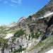 Aufstieg zum Catt da Ribia - Blick in die Flanken der Gemelli und Cima di Cattögn