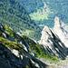 Catt da Ribia, 2363 m - Tiefblick nach Niva