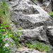 Aufstieg nach Cadinc - Erste eingemeisselte Tritte (Tacche)