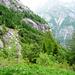 Aufstieg nach Corte Nuovo, Alpe Solögna - Blick in die Flanke gegen Cadinc