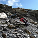 Hundebiwak unterhalb des Gipfels (wollte den Ladies die letzte etwas ausgesetzte Passage ersparen).