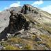 Diablon Westgrat mit Gipfel (links) und Vorgipfel (rechts).